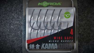 Korda Kamakura Wide Gape Size 4 (micro barbed)