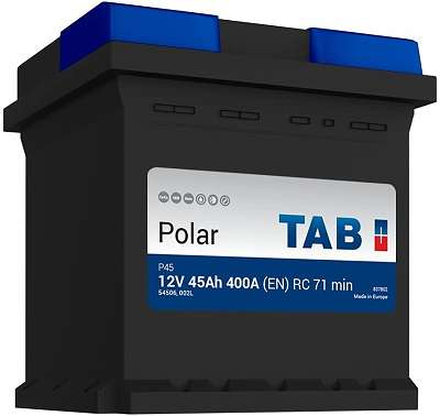 TAB Startbatterie Type Polar P45 12V 45Ah 400A