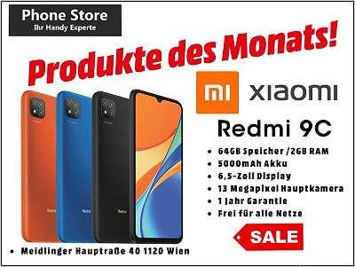 Xiaomi Redmi 9C 32GB /2GB RAM Schwarz, Orange / Nagelneu, Org. Versiegelt/ Werksoffen, Frei Für Alle Simkarten/ Mit 12 Monate Hersteller Garantie/