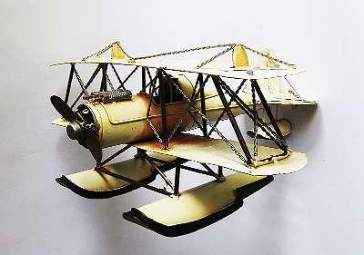 Wasserflugzeug, Blechmodell, Antik-Stil