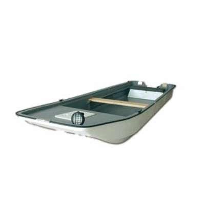 Alpha Composite Shark 460, Fischerboot, Angelboot, Flachboot mit Motor für 3 bis 4 Personen zum Angeln, Freizeit und Ausflug. Durch die niedrige Tauchtiefe sehr gut belastbar, stabil, mit geräumigem Innenraum.