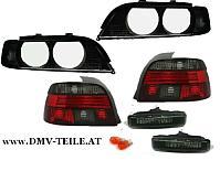 BMW E39 Klarglas Rückleuchten Blinker Scheinwerfer Glas H7 Set schwarz 95-00