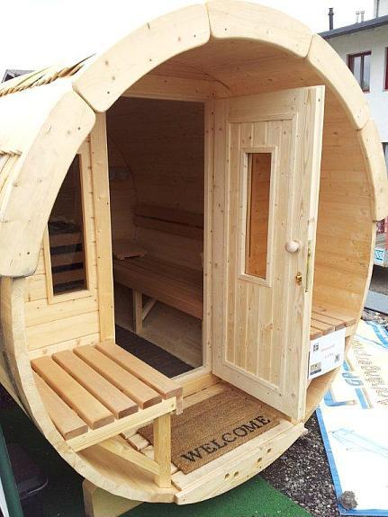 fass sauna mit umkleideraum 3 50 m lang 1 90 m nordische fichte 4716 hofkirchen. Black Bedroom Furniture Sets. Home Design Ideas