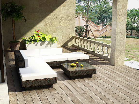 Luxus rattangarnitur polyrattan gartenm bel for Muebles jardin baratos