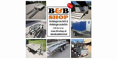 B&B Anhängerverleih Stockerau, Autotransportanhänger um 45. -?/ Tag mieten ! von 750-2800Kg