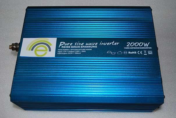 wechselrichter 12v 2000w reiner sinus solarzellen. Black Bedroom Furniture Sets. Home Design Ideas