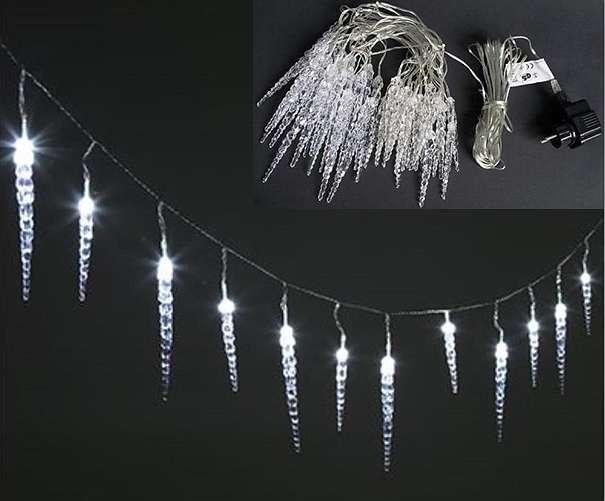 led lichterkette mit 40 eiszapfen und 8 modis f r aussen und innen neu weihnachten. Black Bedroom Furniture Sets. Home Design Ideas