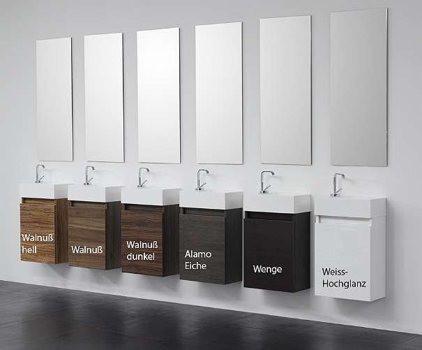 Gäste-WC Badmöbel Waschbecken mit Unterschrank in Wenge: B-Ware ...
