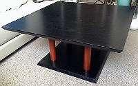 schwarzer Wohnzimmer Tisch 1980