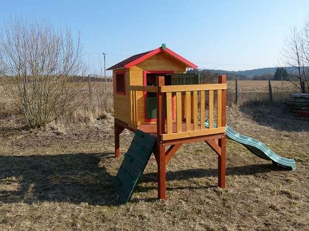 kinderhaus spielhaus f r garten aus massivholz scht mpfi. Black Bedroom Furniture Sets. Home Design Ideas