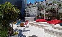 Lärchenboden - Terrassendach -Hochbeet-Gartenmöbel