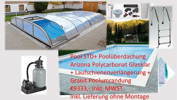 pool komplett set inkl pool berdachung 8625 turnau willhaben. Black Bedroom Furniture Sets. Home Design Ideas