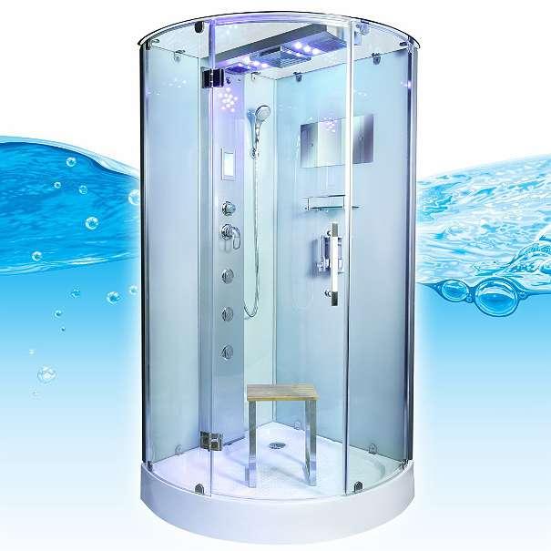 Aluminium R?ckwand Dusche : Dusche Dampfdusche Duschtempel 80x80cm mit Thermostat, ? 1.599,90