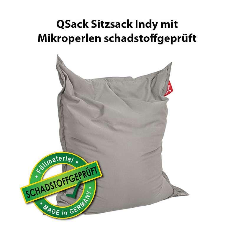 qsack indy sitzsack xxl mit toxproof mikroperlen sitzsack fllung schadstoffgeprft und sitzsack innensack neu 140x180 cm 18995 4910 ried im