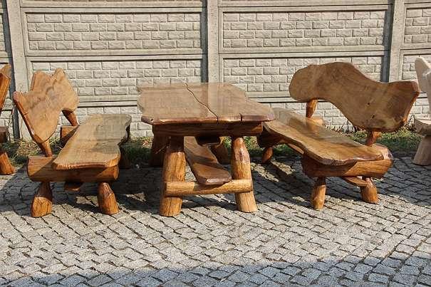 allg sitzgruppe vollholz holz rustikale gartengarnitur gartenm bel neu massivholz. Black Bedroom Furniture Sets. Home Design Ideas