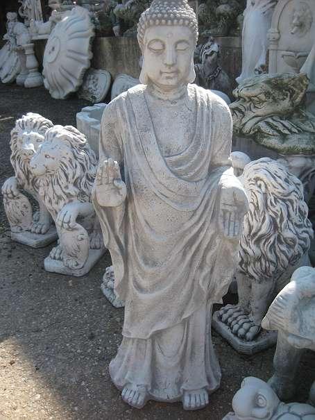 Brandneu eingetroffen thail ndischer buddha stehend 90 cm for Steinfigur buddha garten
