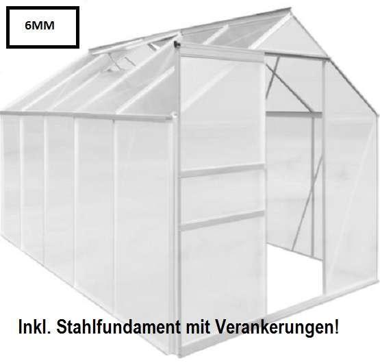 gew chshaus glashaus treibhaus 6mm 11 6 m3 inkl fundamentrahmen 589 90 4631 katzbach. Black Bedroom Furniture Sets. Home Design Ideas