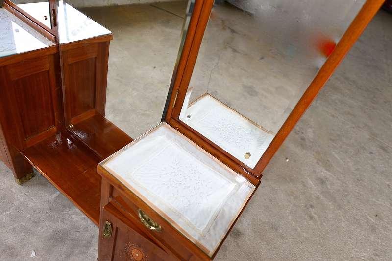 original jugendstilpsyche neu restauriert tolle intarsien psyche spiegelkommode riesiger. Black Bedroom Furniture Sets. Home Design Ideas