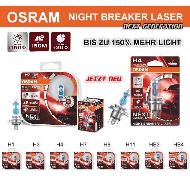 osram night breaker laser 150 next generation high. Black Bedroom Furniture Sets. Home Design Ideas