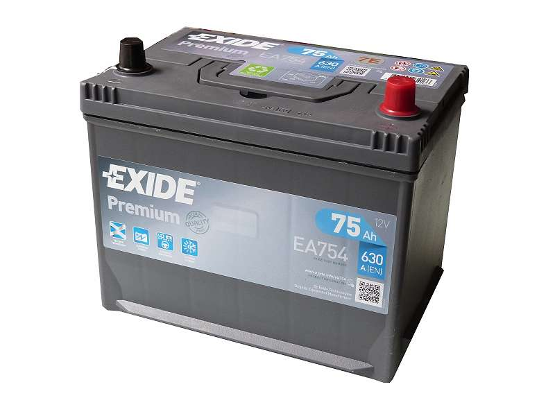 Exide und Intact Autobatterien Blei-Säure, AGM, und Start stop - Batterien