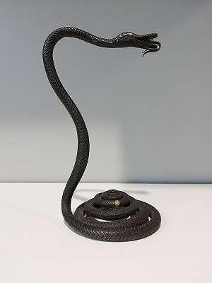 Taschenuhrhalter- Schlange
