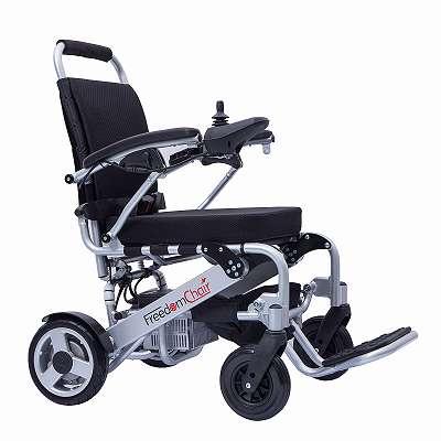 faltbarer Elektro-Rollstuhl FreedomChair A07, der leichteste FredomChair, schmal und wendig für zarte Nutzer