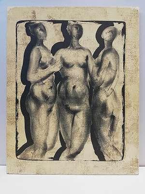 Moderne Kunst , 3- Frauen Akt ,