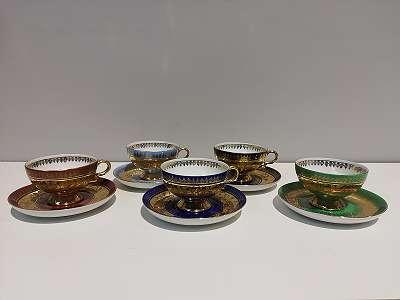4 Sammeltassen der Porzellanfabrik , Johann Haviland ,