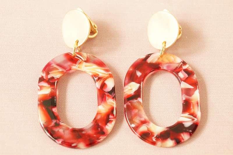 DIVERSE CLIPS ab ¤ 18, - ! Statement-Ohrring aus angesagtem Acryl - verschiedene Modelle! Clips Ohrring Ohrringe Damen Mode Trend