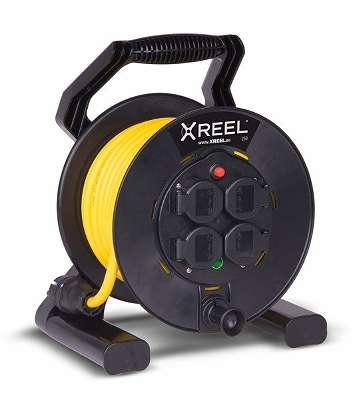 PC Electric Kabeltrommel XREEL®250 4xSSD54 25m 3G1.5 N07 GS1
