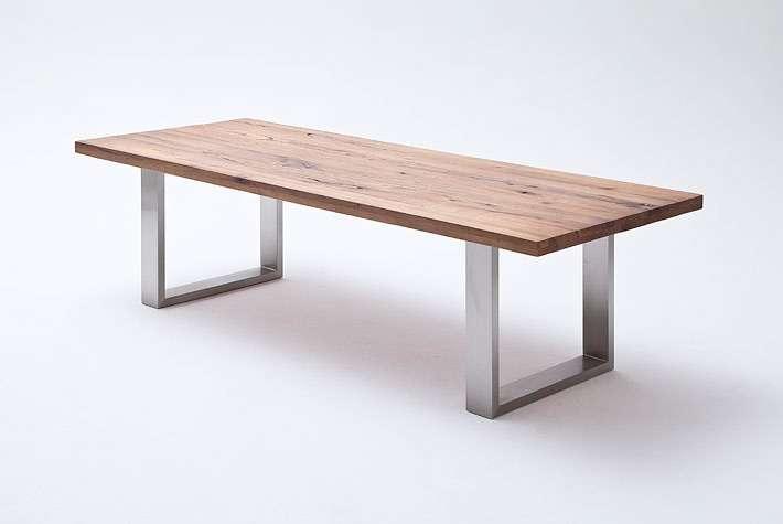 CASTELLO Esstisch Kufentisch Esszimmertisch Küchentisch rechteckig Tisch Massiv Massivholztisch MCA*