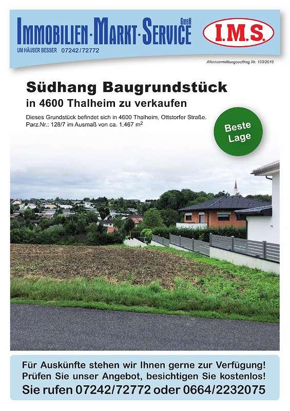Baugrundstück in Thalheim
