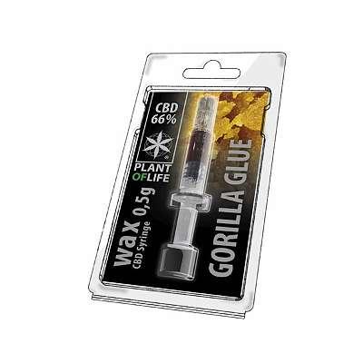 CBD Wachs Gorilla Glue Wax 66% Plant of Life 0,5ml 0,5g