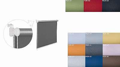Neu Classic Rollo Jalousie Verdunkelungsrollo 100% PVC Kasette nach Mass Sonnenschutz UV Schutz