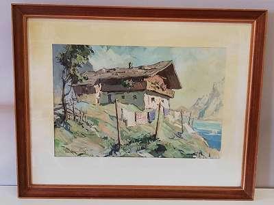 Bauernhaus am Bergsee