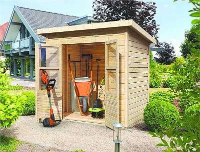 Karibu Gartenhaus Merseburg 3 | Gerätehaus mit gratis Dacheindeckung!