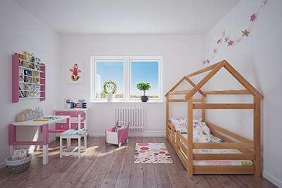 Hausbett aus Buche Massiv Vollholz 200x90cm Holz Stabil Top Qualität