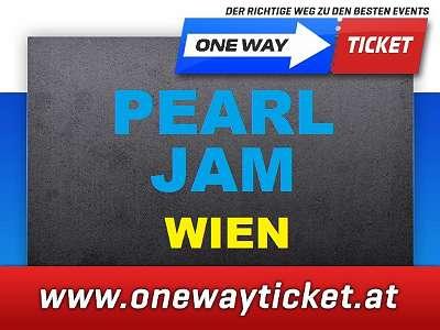 PEARL JAM Wien Front of Stage Stehplätze Tickets Karten verfügbar