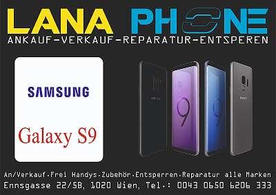 SAMSUNG GALAXY S9 64GB SCHWARZ OFFEN FÜR ALLE NETZE , MIT ZUBEHÖR , 1 MONAT GARANTI