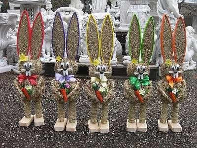 Viele HEUHASEN 65 cm Osterhasen Strohhasen Hasen Handarbeit neu Ostern Geschenk Osterdekoration