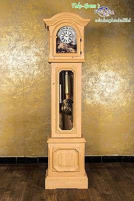 Voglauer Anno 1900 Fichte Antik Gewachst Standuhr Pendeluhr Kieninger Uhrwerk