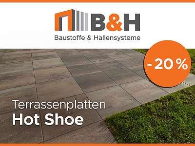 Beton- & Terrassenplatten Hot Shoe 50x50 cm - statt ? 15,80 nur ? 12,40 pro m2