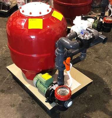 Kompaktfilteranlage mit Durchflussmengenmessung (m3/h)