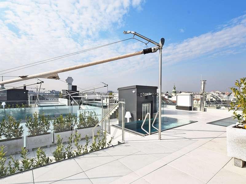 Bild 1 von 11 - Dachterrasse mit Blick über Wien