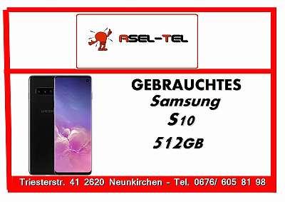 Gebrauchtes! Werksoffenes Samsung Galaxy S10 512GB (DUALSIM) in Black OVP und Zubehör!