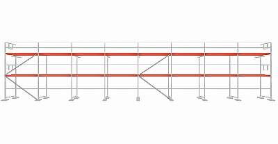 NEU Typ Plettacgerüst ca.156 qm Holzboden 3m Fassadengerüst Gerüst Plettac SL70