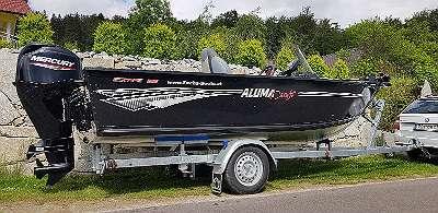 NEU LAGERND 2020 - Alumacraft Escape 145 / 165 Tiller cv Aluboote Alu Boot Aluminiumboote Angelboot Fischerboot Motorboot Bassboat Wallerboot Bassboot Bass Boat Aluma Craft Fuchs Boote