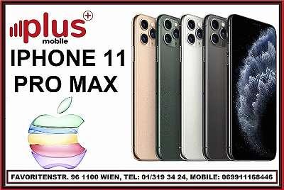 IPHONE 11 PRO MAX 256GB ALLE FARBEN, OVP, NEU, WERKSOFFEN, EU-WARE, VOLLE HERSTELLER GARANTIE, PLUS MOBILE !