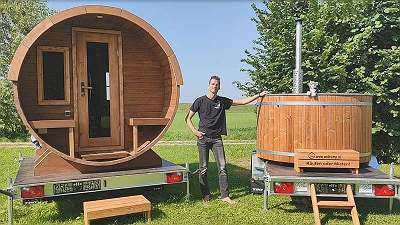 SaunaMOBIL - Mobile Sauna und Hot Tub Mieten, Testen & Kaufen! Der mobile Wellness Urlaub für Zuhause! www. Saunamobil. at -Auszeit und Entspannung! Die Geschenk Idee und Corona Alternative! - präsentiert von WellCAMP