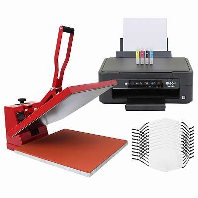 10 Gesichtsmasken für den Sublimationsdruck, 38cm Transferpresse & Epson Drucker 27620